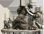 Mitra derrota a la fiera con forma de toro